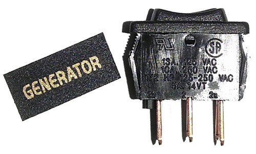 Generator Switch Kit - click for larger image